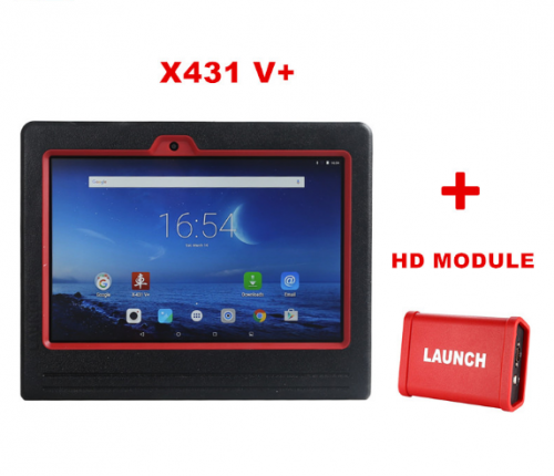 Original Launch X431 V+ Master Diagnostic Tool Plus HD Heavy Duty Truck Module (2-in-1set) with WiFi/Bluetooth DHL Free Shipping