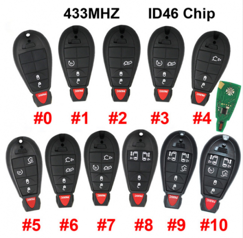 2/3/4/5/6/7 Button Remote Smart Car Key 433MHZ ID46 PCF7941 Chip for Chrysler Town & Country for Jeep for Dodge Magnum Durango