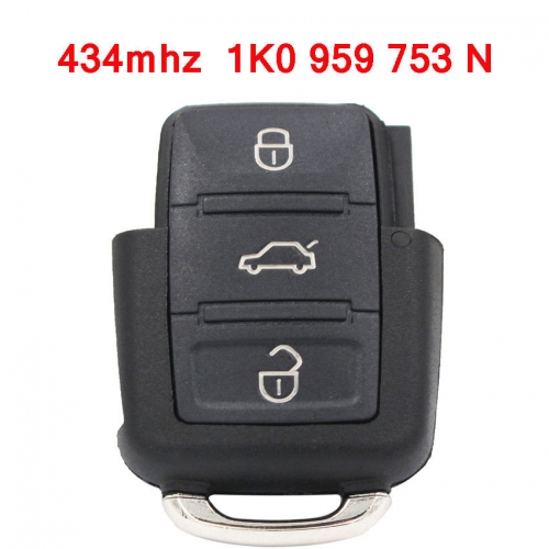 1K0 959 753 N 434MHZ NEW 3 BUTTON REMOTE KEY TRANSMITTER FOR VW SEAT SKODA