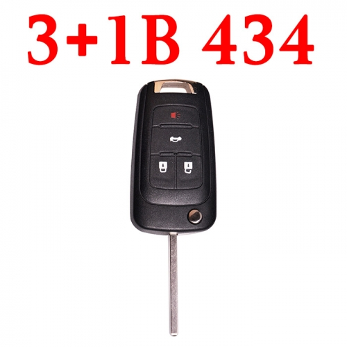 3+1 Buttons 434 MHz Flip Proximity Remote Key for Chevrolet - Keyless Go