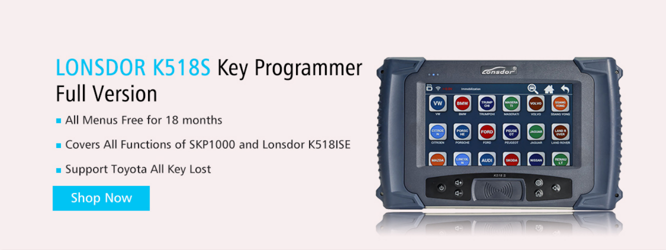 LONSDOR K518S Key Programmer Full Version