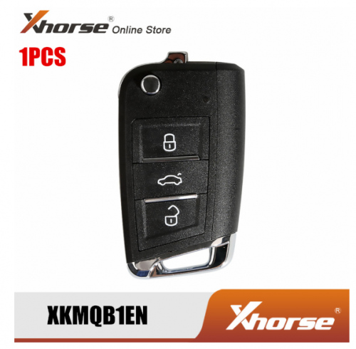 XHORSE XKMQB1EN Wire Remote Key MQB Style 3 Buttons for VW