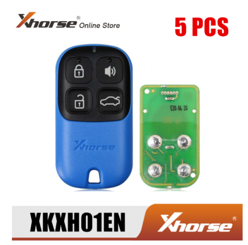 XHORSE XKXH01EN Universal Remote Key 4 Buttons for VVDI Key Tool English Version 5PCS/Lot