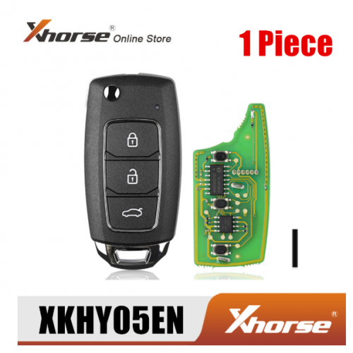 Xhorse XKHY05EN Wire Remote Key for Hyundai 3 Buttons English Version 1 Piece