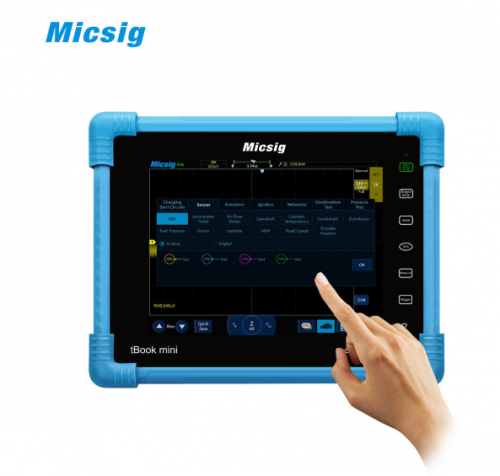 Micsig ATO1104 Automotive Tablet Oscilloscope Touchscreen 100MHz 4CH 1GSa 28Mpt