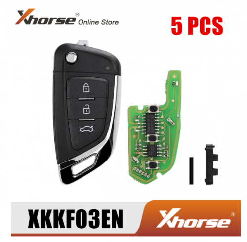 XHORSE XKKF03EN Universal Remote Key 3 Buttons Fob Knife Style 5pcs/Lot