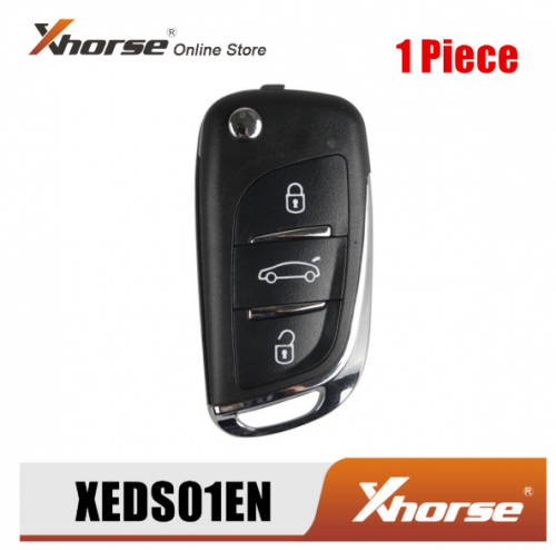 Xhorse XEDS01EN For DS Style Super Remote 3 Buttons with Built-in Super Chip English Version 1 Piece