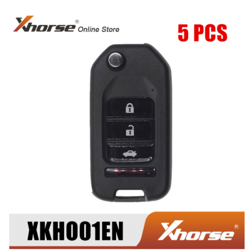 Xhorse XKHO01EN Universal Remote Key Fob 3+1 Button for H-onda Type for VVDI Key Tool English Version 5pcs/Lot