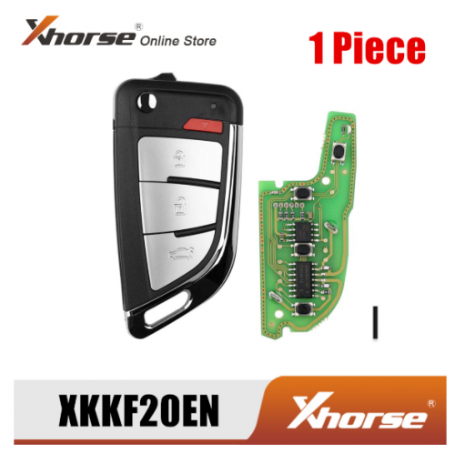 Xhorse XKKF20EN Wire Remote Key Memoeial Knife Style 3 Buttons 1 Piece