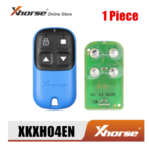 Xhorse XKXH04EN Garage Remote Key 4 Buttons Blue 1 Piece