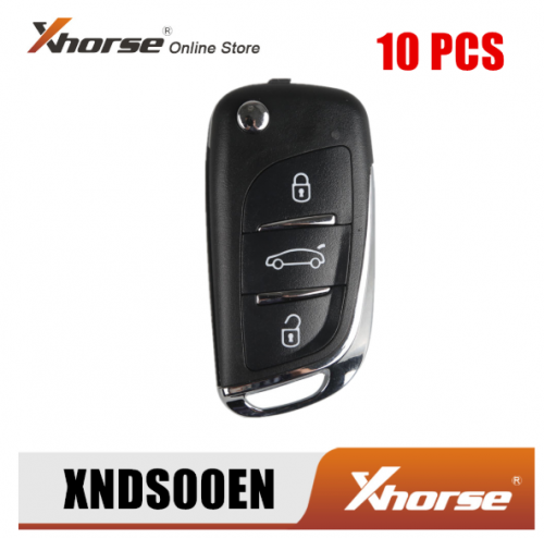 XHORSE XNDS00EN Wireless Universal Remote Key For DS Style 3 Buttons XN002 for VVDI Key Tool 10pcs/Lot