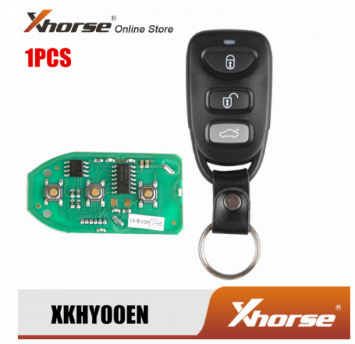 XHORSE XKHY00EN For Hyundai Wired Universal Remote Key 3 Buttons For VVDI Key Programmer 1PCS