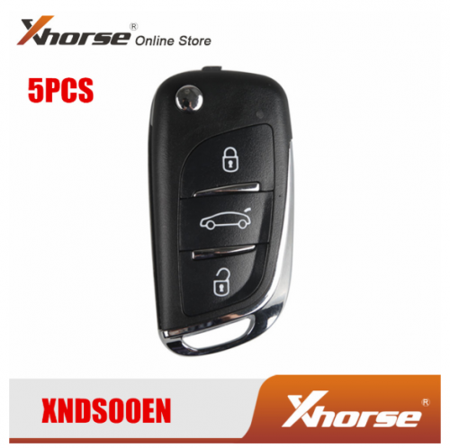 XHORSE XNDS00EN VVDI Key Tool Remote Key XNDS00EN For VW DS Type Remote Key 3 Buttons 5 PCS