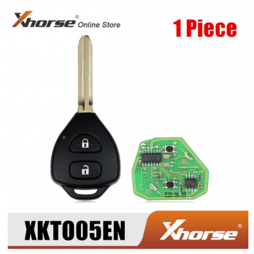 Xhorse XKTO05EN Wire Remote Key for Toyota Flat 2 Buttons Triangle English Version 1 Piece