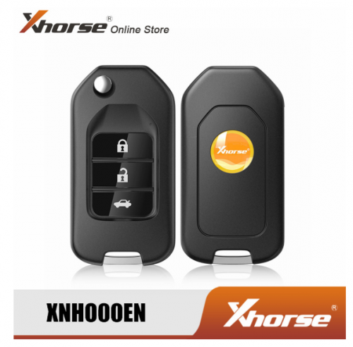 XHORSE XNHO00EN Wireless Universal Remote Key Fob 3 Buttons for Honda English Version Work with VVDI Mini Key Tool KEY TOOL MAX VVDI KEY TOOL PLUS PAD
