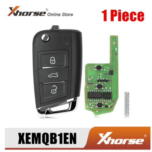 Xhorse XEMQB1EN Super Remote Key for VW MQB 3 Buttons with Built-in Super Chip English Version