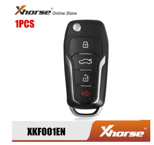 Xhorse XKFO01EN Wire Remote Key For F-ord Condor Flip 4 Buttons Unmovable Key King English Version