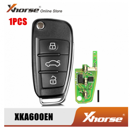 XHORSE XKA600EN 3 Buttons Universal VVDI2 Programmer Key Chip For Audi A6L Q7 Type 1PCS