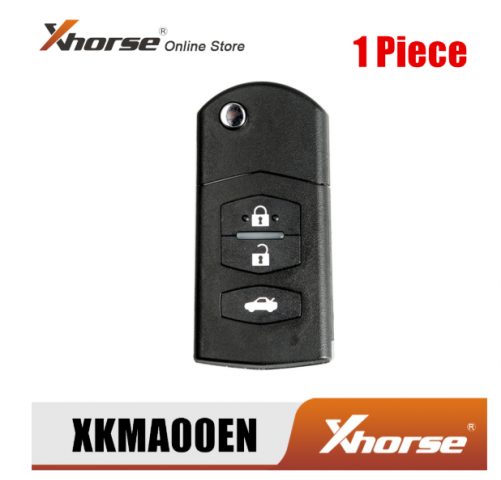 Xhorse XKMA00EN Wire Remote Key for Mazda Flip 3 Buttons English Version 1Piece