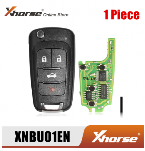 Xhorse XNBU01EN Wireless Remote Key for Buick Flip 4 Buttons English Version 1 Piece