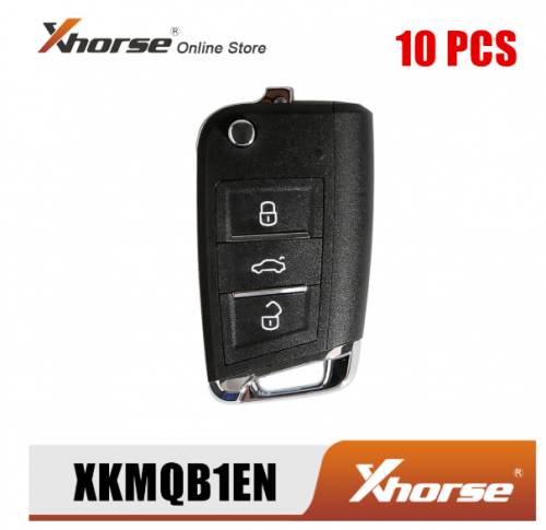 Xhorse XKMQB1EN Wire Remote Key For VW MQB Flip 3 Buttons English Version 10pcs/Lot