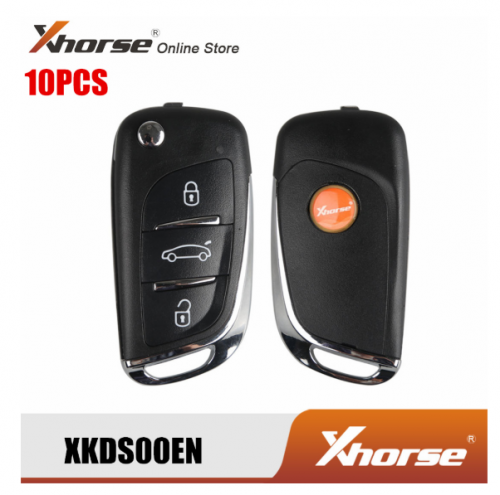 XHORSE XKDS00EN Wire Remote Key 3 Buttons for VVDI Key Tool 10pcs/Lot