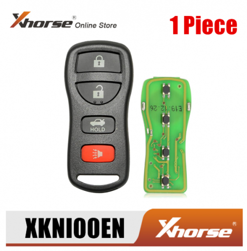 Xhorse XKNI00EN Wire Remote Key for Nissan Separate 4 Buttons English Version 1 Piece
