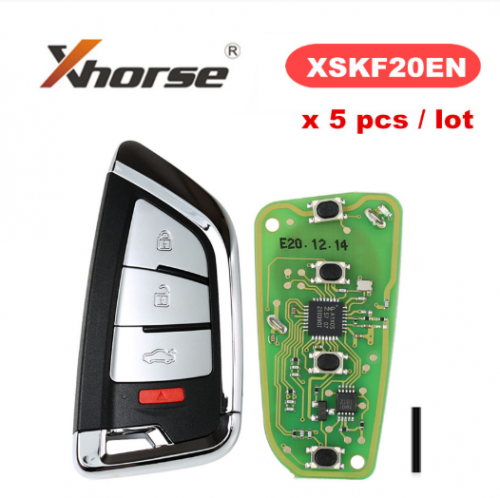 XHORSE XSKF20EN XS Series Universal Knife Style Smarty Remote With 4 Buttons for VVDI Key Tool VVDI2 5pcs/lot