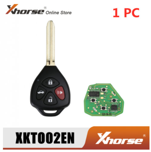 Xhorse XKTO02EN Wired Universal Remote Key for Toyota Style Flat 4 Buttons for VVDI2 VVDI Key Tool  MAX  Key Tool Plus