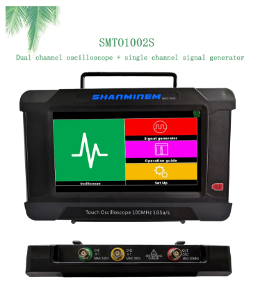 JINHAN Touch Screen Oscilloscope SMTO1002 2CH 100M/1G Sampling Rate Usb Oscilloscopes SMTO1002S 2CH+1CH Signal Generator